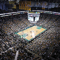 07 June 2012: General view of the TD Garden during the fourth quarter of Miami Heat 98-79 victory over the Boston Celtics, in Game 6 of the Eastern Conference Finals playoff series, at the TD Banknorth Garden, Boston, Massachusetts, USA.