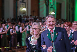 12.01.2018, Hofburg, Wien, AUT, Steirerball, im Bild Josef Herk, Präsident der Wirtschaftskammer Steiermark, mit Gattin Valentina // during the Styrian Ball in the Hofburg, Vienna, Austria on 2018/01/12, EXPA Pictures © 2017, PhotoCredit: EXPA/ Martin Huber