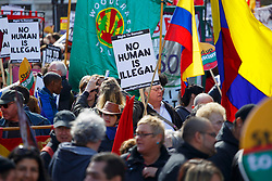© licensed to London News Pictures. London, UK 22/03/2014. People marching to celebrate United Nations International Anti-Racism Day in central London on Saturday, 22 March 2014. Photo credit: Tolga Akmen/LNP