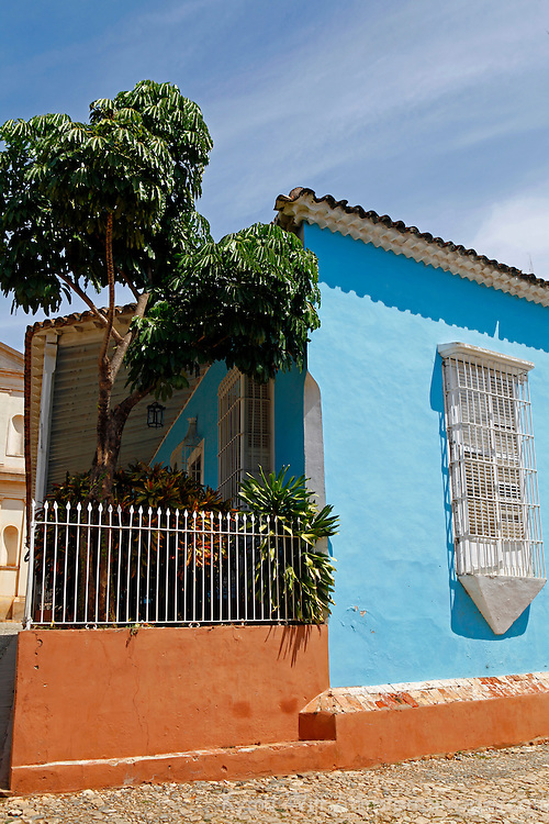 Central America, Cuba, Trinidad. Typical home in the preserved are of Trinidad, Cuba.