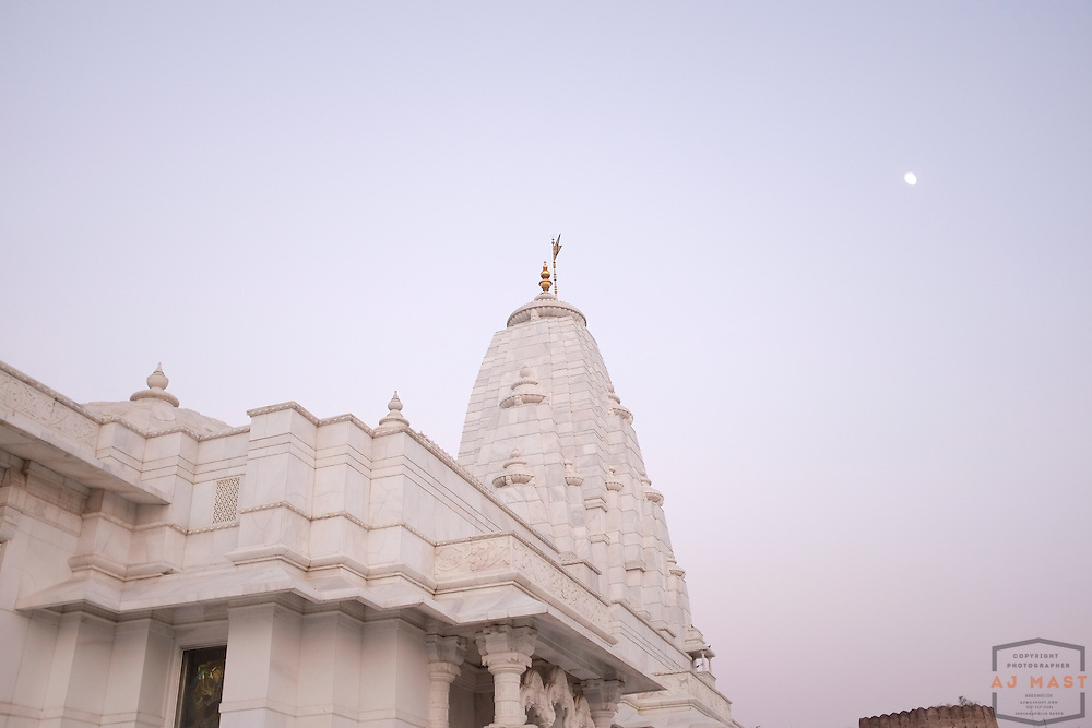Birla Mandir Hindu Temple in Jaipur, India, Sunday, Nov. 22, 2015. (AJ Mast)