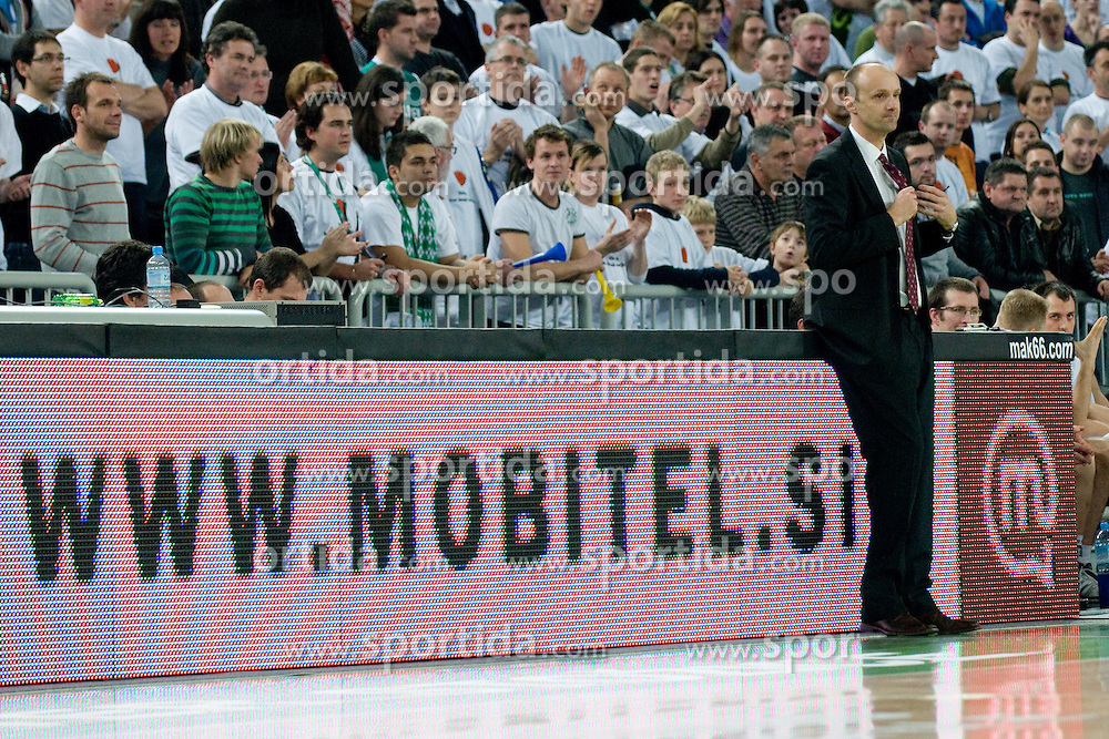 Head Coach of Union Olimpija Jurij Zdovc during basketball match between KK Union Olimpija (SLO) and Power E. Valencia (SPA) in Group D of Turkish Airlines Euroleague, on November 17, 2010 in Arena Stozice, Ljubljana, Slovenia. (Photo By Matic Klansek Velej / Sportida.com)