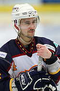 16 Jan 2010: Guildford, England. Neil Liddiard (4) of Guildford Flames looks on during the English Premier League match between Guildford Flames  Manchester Phoenix at Guildford (photo by Andrew Tobin/Slik Images)
