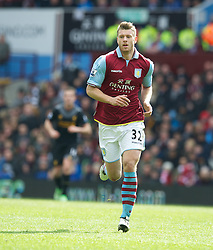 BIRMINGHAM, ENGLAND - Easter Sunday, March 31, 2013: Aston Villa's Nathan Baker in action against Liverpool during the Premiership match at Villa Park. (Pic by David Rawcliffe/Propaganda)