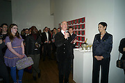 FLORRIE CLARKE; CHARLES SAUMERAZ-SMITH; MARGARETH HENRIQUEZ, , THE LAUNCH OF THE KRUG HAPPINESS EXHIBITION AT THE ROYAL ACADEMY, London. 12 December 2011.