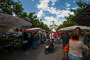 Weekend market, Place du Marche, Carouge, Geneva