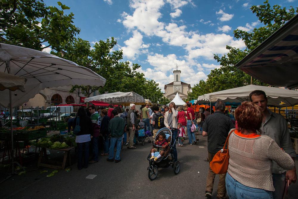 Weekend market, Place du Marche, Carouge, Geneva