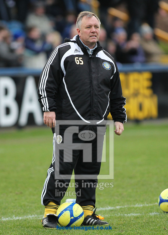 Picture by MIchael Sedgwick/Focus Images Ltd. 07900 363072.07/01/12.Gary Simpson, manager of Macclesfield Town prior to the FA Cup third round match against Bolton Wanderers at the Moss Rose stadium, Macclesfield.