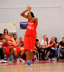 Bristol Flyers' Chris Bourne receives  a warm welcome from the crowd as he comes on  - Photo mandatory by-line: Joe Meredith/JMP - Mobile: 07966 386802 - 18/04/2015 - SPORT - Basketball - Bristol - SGS Wise Campus - Bristol Flyers v Leeds Force - British Basketball League