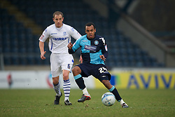 WYCOMBE, ENGLAND - Saturday, February 4, 2012: Wycombe Wanderers' Matty Whichelow in action against Tranmere Rovers during the Football League One match at Adams Park. (Pic by David Rawcliffe/Propaganda)