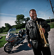 OWINGS MILLS, MD-- 9/5/00--Langston Fitzgerald, trumpet
