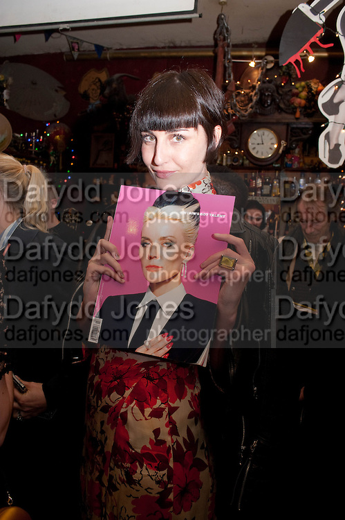 ERIN O'CONNOR, Ponystep - issue 3 launch party, George and Dragon, 2-4 Hackney Road, London, E2.  April 5 2012.