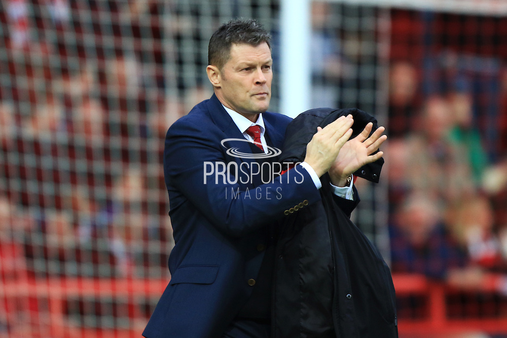Bristol City manager Steve Cotterill during the Sky Bet Championship match between Bristol City and Charlton Athletic at Ashton Gate, Bristol, England on 26 December 2015. Photo by Jemma Phillips.