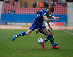 Joe Williams of Wigan Athletic (L) in action - Mandatory by-line: Jack Phillips/JMP - 08/02/2020 - FOOTBALL - DW Stadium - Wigan, England - Wigan Athletic v Preston North End - English Football League Championship