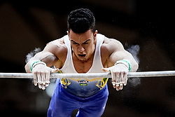 October 29, 2018 - Doha, Qatar - Caio Souza of  Brazil   during  High Bar, Team final for Men at the Aspire Dome in Doha, Qatar, Artistic FIG Gymnastics World Championships on October 29, 2018. (Credit Image: © Ulrik Pedersen/NurPhoto via ZUMA Press)