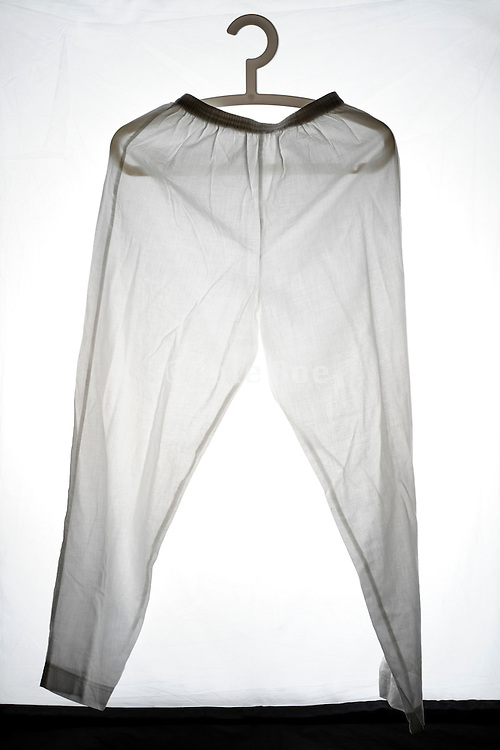 plain and simple designed white pants