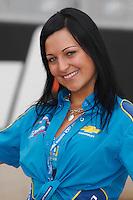 2008 British Touring Car Championship.  Donington Park, Derby, United Kingdom. 3rd-4th May 2008.  Robertshaw Racing Grid Girl.  World Copyright: Peter Taylor/PSP