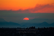 A Sunset Reveals the Mountains and Foothills Olympic National Park.