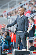 Pep Guardiola, head coach of Bayern Munich during the Bundesliga match at Audi Sportpark, Ingolstadt<br /> Picture by EXPA Pictures/Focus Images Ltd 07814482222<br /> 07/05/2016<br /> ***UK &amp; IRELAND ONLY***<br /> EXPA-EIB-160507-0068.jpg