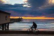 Bike Riding On The Beach
