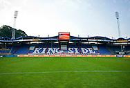 Vanaf het voetbalseizoen 2008-2009 heeft Willem II LED reclameborden in het stadion<br /> De KingSide met sponsor DHL<br /> Foto: Geert van Erven