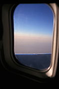 View from an airplane window during flight