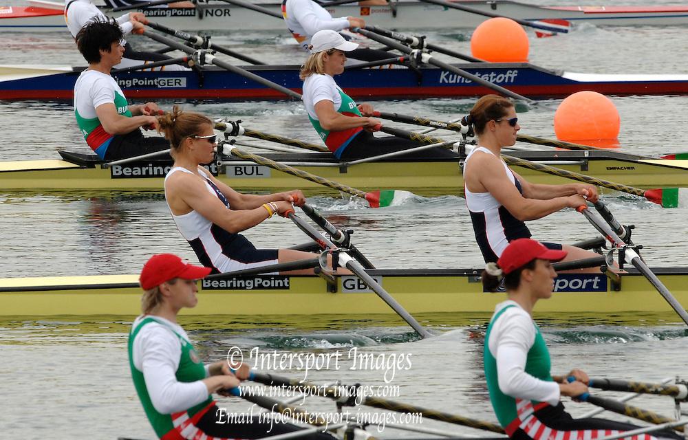 2005 FISA World Cup, Dorney Lake, Eton, ENGLAND, 26.05.05.  Women's double start GBR W2X. Photo  Peter Spurrier. .email images@intersport-images[Mandatory Credit Peter Spurrier/ Intersport Images] , Rowing Courses, Dorney Lake, Eton. ENGLAND