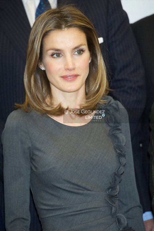 "Princess Letizia attends the Presentation of the corporate campaign ""Being more, we will be stronger"" and signs with media groups of the agreement ""Commitment to Cancer. States against the disease"" at AECC headquarters in Madrid"