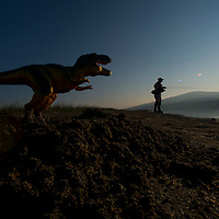Ryan Brennecke<br /> (406) 546-3553<br /> <br /> When your four-year-old son stashes his T-rex toy in your fishing bag you owe it to him to make a fun picture with it to make him think you went fishing where dinosaurs live.<br /> <br /> Davis Lake, Oregon