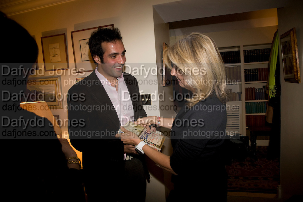 AATISH TASEER; THE COUNTESS OF HANOVER, Aatish Taseer  book launch party for his new book Stranger To History. Travel book asks what it means to be a Muslim in the 21st century. Hosted by Gillon Aitken. Kensington, London. 30 March 2009