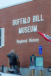 Front of Buffalo Bill Museum of Regional History in LeClair Iowa