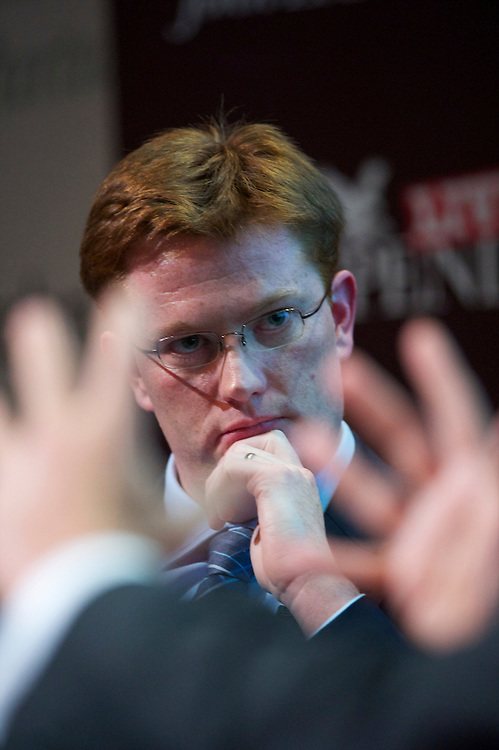 MP Danny Alexander takes part in an interview event at the Liberal Democrats Autumn Conference in Liverpool on 19 September 2010.  This was the first party conference since the government coalition with the tories.