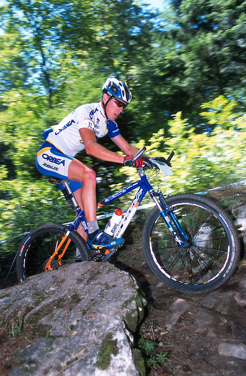UCI World MTB Cup Leysin, Switzerland 2001,Ludovic Dubau, orbea