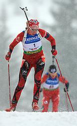 Liv Kjersti Eikland (NOR) at Women 15 km Individual at E.ON Ruhrgas IBU World Cup Biathlon in Hochfilzen (replacement Pokljuka), on December 18, 2008, in Hochfilzen, Austria. (Photo by Vid Ponikvar / Sportida)