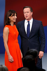 © Licensed to London News Pictures. 07/10/2015. Manchester, UK. SAMANTHA CAMERON and Prime Minister DAVID CAMERON greeting delegates at Conservative Party Conference at Manchester Central convention centre on Wednesday, 7 October 2015. Photo credit: Tolga Akmen/LNP