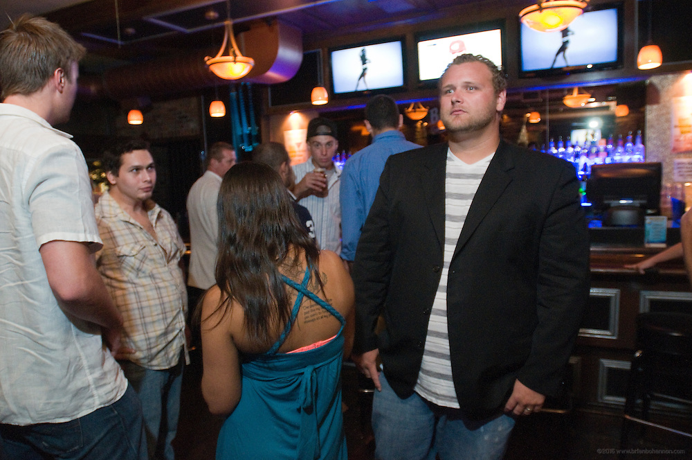 Jamason Welker, Photobombed at Baxter's 942 Bar and Grill on Baxter Avenue, Saturday, Aug. 11, 2012 in Louisville, Ky. (Photo by Brian Bohannon)