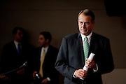 Speaker of the House JOHN BOEHNER (R-OH) answers questions during his weekly press conference on Capitol Hill on Thursday.