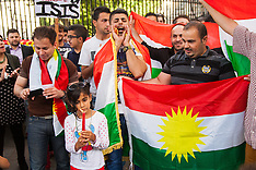 2014-08-13 Kurds and Yazadis protest in London against ISIS genocide