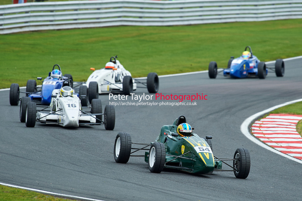 #54 Douglas Crosbie Van Diemen JL13 during Avon Tyres Formula Ford 1600 Northern Championship - Prost 89 Race 1 as part of the BRSCC Fun Cup Oulton Park 17th October 2015 at Oulton Park, Little Budworth, Cheshire, United Kingdom. October 17 2015. World Copyright Taylor/PSP. Copy of publication required for printed pictures.  Every used picture is fee-liable. http://archive.petertaylor-photographic.co.uk
