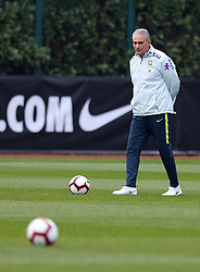 Brazil's coach Tite during the training session at London Colney, Hertfordshire.