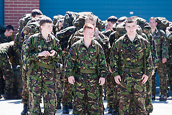 About to go on the 2 mile march..Exercise Guards Warrior with the Scots Guards at their Catterick base..Pic ©2010 Michael Schofield. All Rights Reserved.