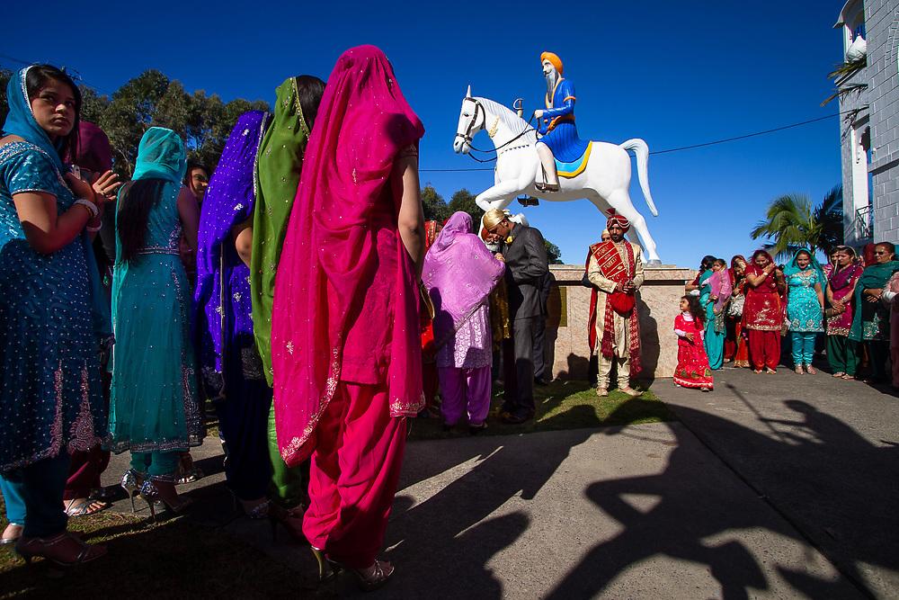 Woolgoolga, Australia: A Sikh wedding at the Guru Nanak Temple. Woolgoolga is home to the largest Sikh community in Australia.