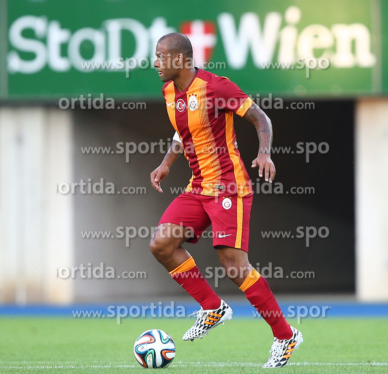 23.07.2014, Ernst Happel Stadion, Wien, AUT, Testspiel, SK Rapid Wien vs Galatasaray Istanbul, im Bild Felipe Melo, (Galatasaray Istanbul, #3) // during a Austrian Bundesliga Football test match between SK Rapid Vienna and Galatasaray Istanbul at the Ernst Happel Stadion, Wien, Austria on 2014/07/23. EXPA Pictures © 2014, PhotoCredit: EXPA/ Thomas Haumer