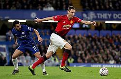 Manchester United's Nemanja Matic takes the ball past Chelsea's Pedro