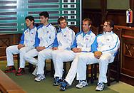 Wroclaw 31/01/2013.Davis Cup .Poland vs Slovenia.Press conference of Slovenian team..Photo by : Piotr Hawalej