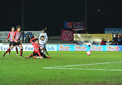 Jerome Sinclair of Liverpool scores. - Mandatory byline: Alex James/JMP - 08/01/2016 - FOOTBALL - St James Park - Exeter, England - Exeter City v Liverpool - FA Cup Third Round