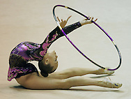 Rhythmic Gymnastics.Kristian Brooks competes at the Convention Center in Indianapolis..