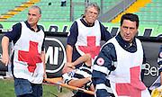 Udine, 18 Settembre 2011.Campionato di calcio Serie A 2011/2012  3^ giornata..Udinese vs Fiorentina. Stadio Friuli..Nella Foto: infortunio a Giovanni Pasquale..© foto di Simone Ferraro