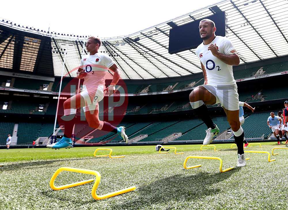 Danny Care and Harry Mallinder of England takes part in training at Twickenham ahead of the upcoming tour of Argentina - Mandatory by-line: Robbie Stephenson/JMP - 02/06/2017 - RUGBY - Twickenham - London, England - England Rugby Training