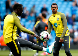 Fernando of Manchester City warms up with Bacary Sagna - Mandatory by-line: Matt McNulty/JMP - 06/05/2017 - FOOTBALL - Etihad Stadium - Manchester, England - Manchester City v Crystal Palace - Premier League